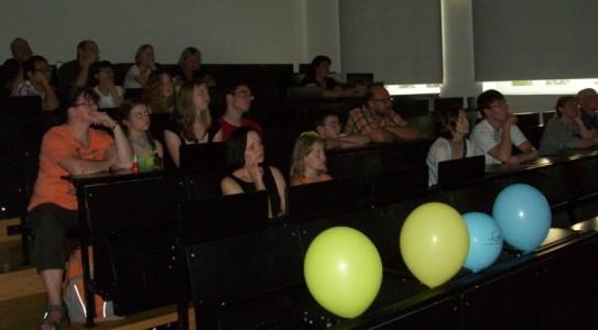 Der Hörsaal war bei den Vorträgen zur Amateurastronomie,