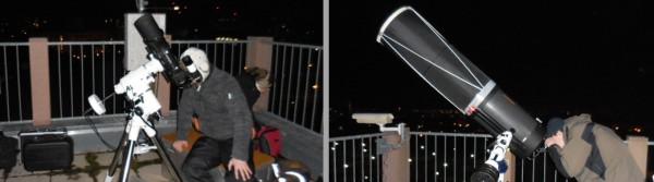 An großen und kleinen Teleskop kann beobachtet werden