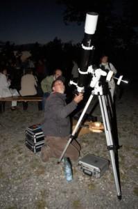 moderne Beobachtungstechnik auf dem Mittelberg